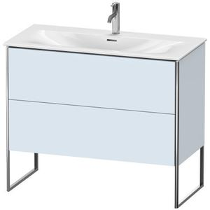 Vanity Unit Floorstanding, Light Blue Satin Matte (lacquer)