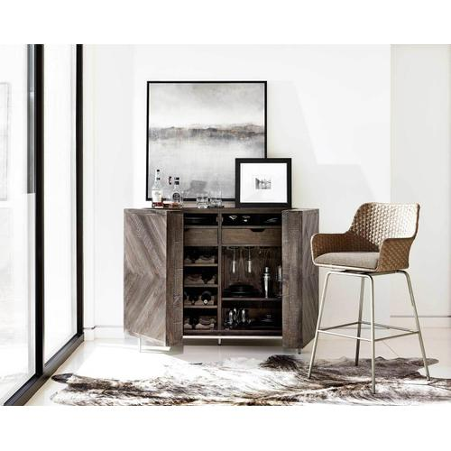 Parkside Bar Cabinet in Sable Brown