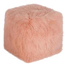Lamb Fur Pouf Pink