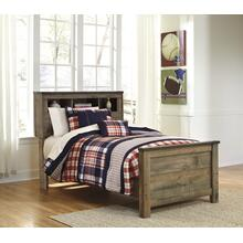 Trinell Twin Bed W/Bookcase Headboard Brown