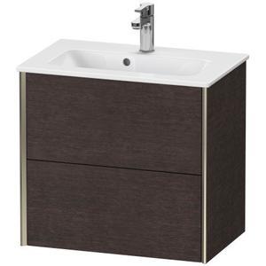 Duravit - Vanity Unit Wall-mounted Compact, Brushed Dark Oak (real Wood Veneer)