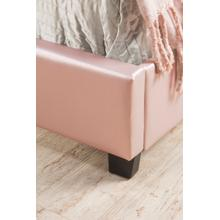 View Product - Karley Complete Full-size Bed, Pink Faux Leather