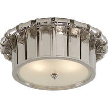 Alexa Hampton Vivien 2 Light 13 inch Polished Nickel Flush Mount Ceiling Light