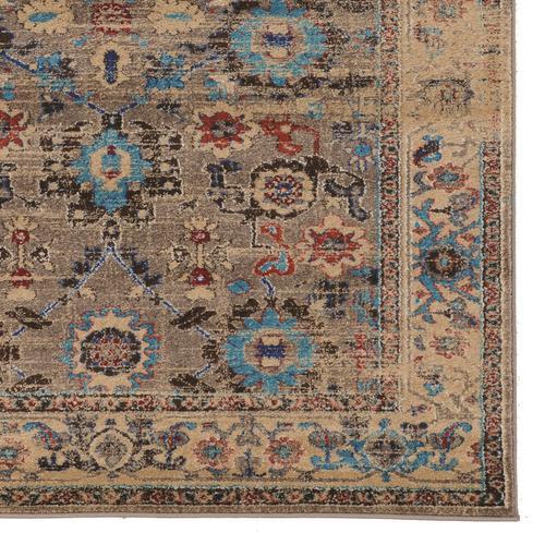 Serape Mahal Beige/turquoise 5x7 6 In