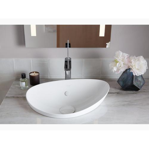 Biscuit Vessel Bathroom Sink Without Overflow