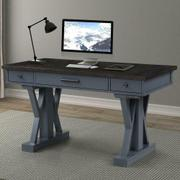 AMERICANA MODERN - DENIM 56 in. Power Lift Desk (from 23 in. to 48.5 in.) (AME#256T and LIFT#200BLK) Product Image