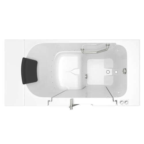 Gelcoat Premium Seriers 30x52 Walk-in Tub with Air Spa and Outswing Door, Right Drain  American Standard - White