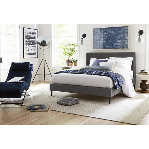 Oslo Queen Bed, Heather Charcoal