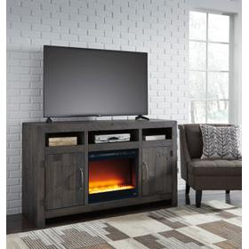 See Details - Mayflyn LG TV Stand W/ Fireplace Insert Charcoal