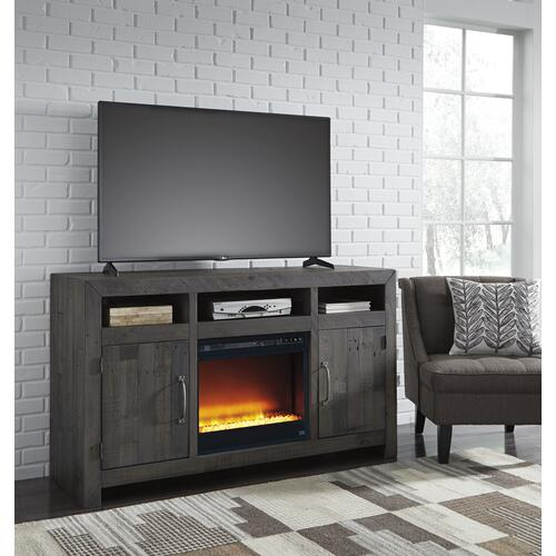 Mayflyn LG TV Stand W/ Fireplace Insert Charcoal