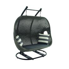 "+MTL PE WICKER SWING 62""W, 73""H"