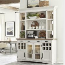 See Details - AMERICANA MODERN DINING 2pc 69 in. Buffet / Display Hutch with quartz insert