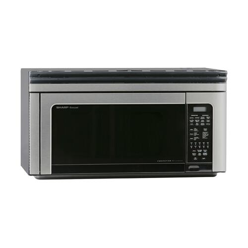 Sharp - 1.1 cu. ft. 850W Sharp Stainless Steel Convection Over-the-Range Microwave Oven