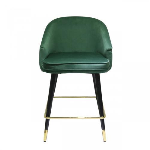 Gallery - Modrest Elliot - Contemporary Green & Black/Gold Bar Stool (Set of 2)
