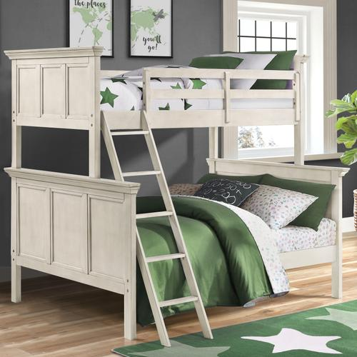 Intercon Furniture - San Mateo Youth Twin over Full Bunk Bed  Rustic White
