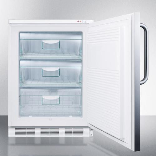Commercial Freestanding Medical All-freezer Capable of -25 C Operation, With Lock, Wrapped Stainless Steel Door and Towel Bar Handle