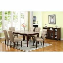 ACME Britney Side Chair (Set-2) - 10284 - Cream PU & Walnut
