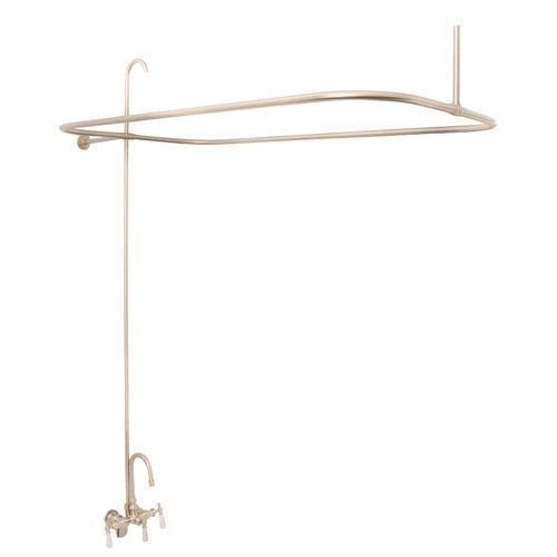 Tub/Shower Converto Unit - Gooseneck Spout for Acrylic Tubs - Brushed Nickel