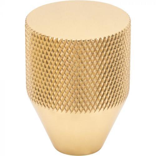 Vesta Fine Hardware - Beliza Conical Knurled Knob 1 Inch Polished Brass Polished Brass