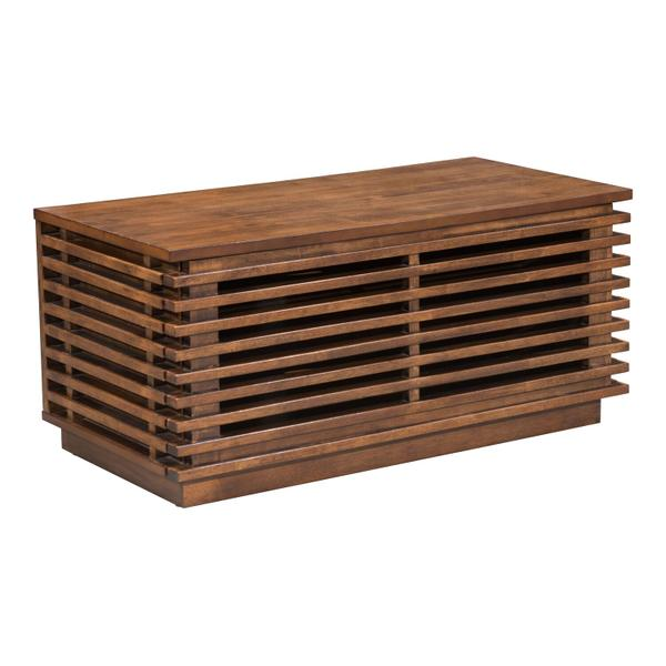 See Details - Linea Narrow Entertainment Stand Walnut