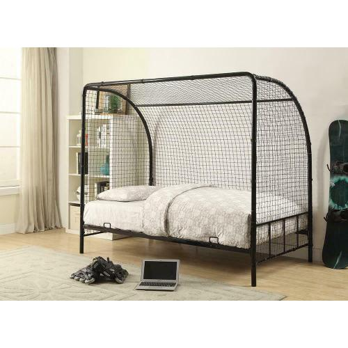 Black Twin Soccer Goal Bed