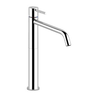 "High version basin mixer, flexible hoses with 3/8"" connections, without waste Product Image"