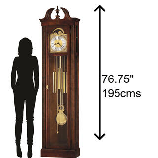 See Details - Howard Miller Chateau Grandfather Clock 610520