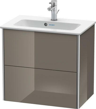 Product Image - Vanity Unit Wall-mounted Compact, Flannel Gray High Gloss (lacquer)