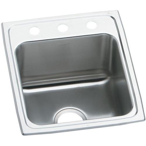 """Elkay Lustertone Classic Stainless Steel 17"""" x 20"""" x 10-1/8"""", Single Bowl Drop-in Sink"""