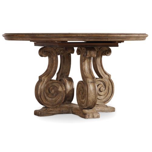 Hooker Furniture - Solana 54in Pedestal Dining Table w/1-20in Leaf