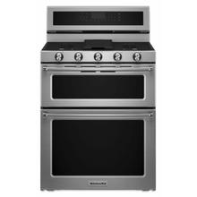 View Product - 30-Inch 5 Burner Gas Double Oven Convection Range - Stainless Steel