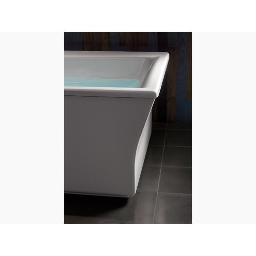 "White 72"" X 36"" Freestanding Bath With Fluted Shroud and Center Drain"