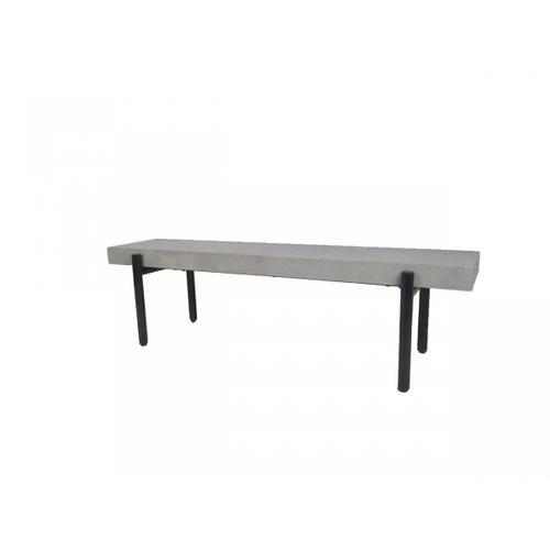 VIG Furniture - Modrest Timlin - Modern Concrete & Metal Bench