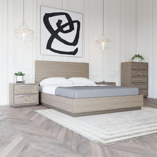 VIG Furniture - Modrest Samson - Contemporary Grey and Silver Bed