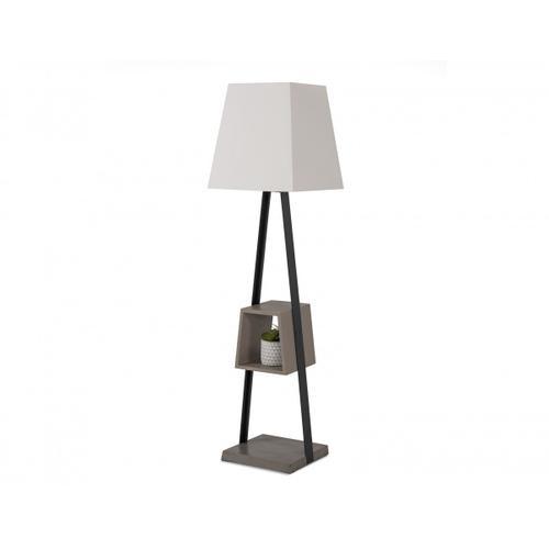 VIG Furniture - Modrest Cortez Modern Black Metal & Faux Concrete Floor Lamp