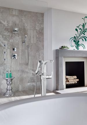Chrome HydraChoice ® Round Body Spray Trim Product Image