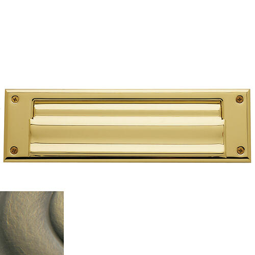 Satin Brass and Black Letter Box Plates