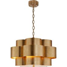 AERIN Arabelle 5 Light 28 inch Gild Hanging Shade Ceiling Light