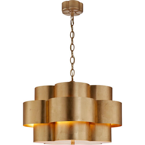 Visual Comfort - AERIN Arabelle 5 Light 28 inch Gild Hanging Shade Ceiling Light