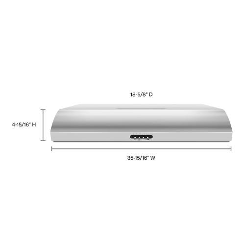 """Whirlpool - 36"""" Range Hood with the FIT System"""