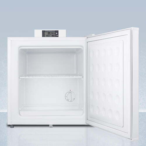 Summit - Commercially Approved Nutrition Center Series Compact All-freezer In White With Front Lock and Nist Calibrated Digital Temperature Display
