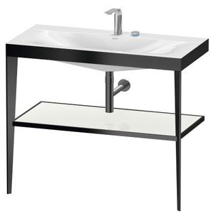 Duravit - Furniture Washbasin C-bonded With Metal Console Floorstanding, White High Gloss (lacquer)