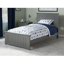 View Product - Nantucket Twin XL Bed with Matching Foot Board in Atlantic Grey