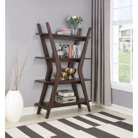 See Details - Mid-century Modern Dark Walnut Bookcase
