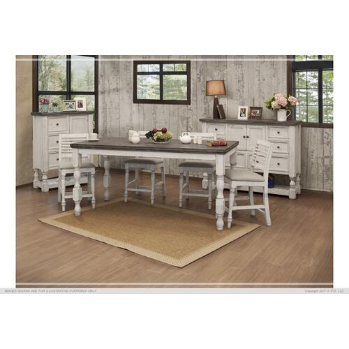 International Furniture Direct - Counter Table w/ Turned Legs
