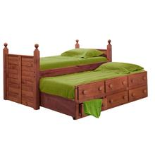 Twin Panel Post Captain Bed w/Twin Trundle Unit