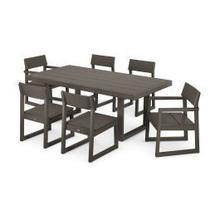 View Product - EDGE 7-Piece Dining Set in Vintage Coffee
