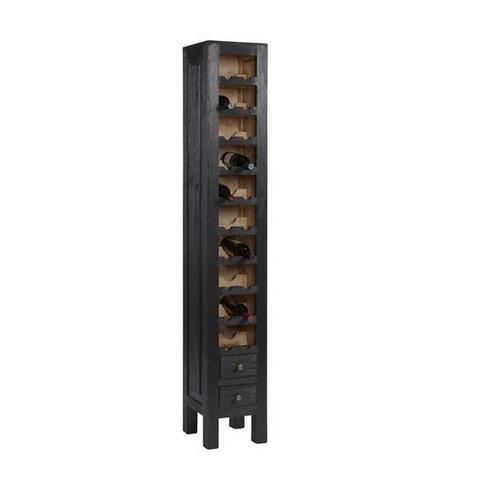 Progressive Furniture - Wine Cabinet - Rustic Gray Finish