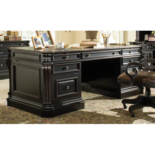 Hooker Furniture - Telluride 76'' Executive Desk w/Wood Panels