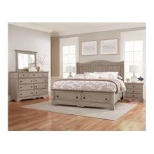 See Details - Sleigh Bed with Storage Footboard